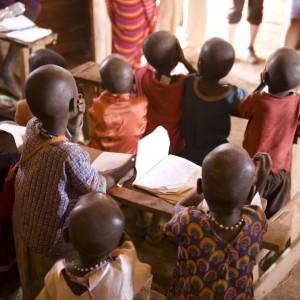 Masai children at school