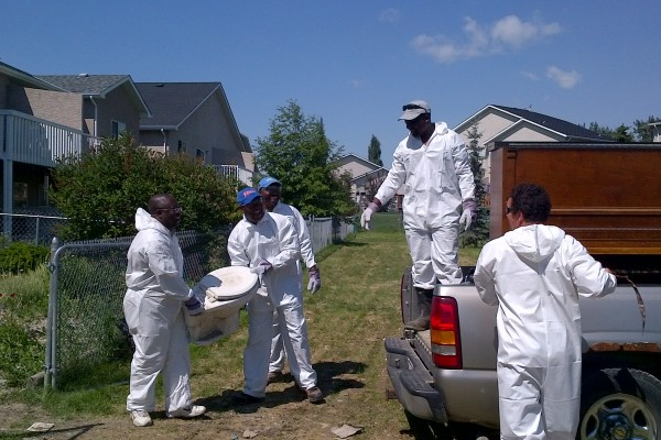 CCF members helping flood victims at High River, Calgary, Canada in 2013