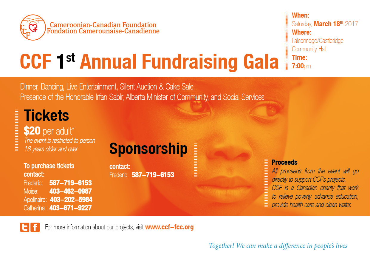 #CCFGALA2017 March 18, 2017 Cameroonian-Canadian Foundation gala night.